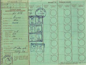 Mark 2 Ariel Originial Ownership Papers