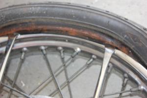 Vintage motorcycle tyres
