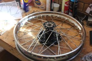 Motorcycle wheel building