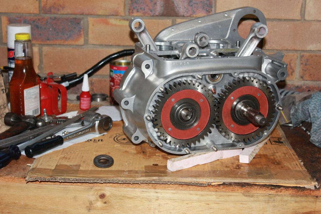 Square Four Ariel crankshaft coupling gears